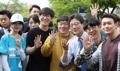 Yoo Seong-min en plena campaña presidencial
