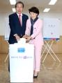 Hong emite su voto para las elecciones presidenciales