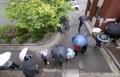 Vote sous la pluie