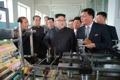 Kim Jong-un at disabled veterans' factory