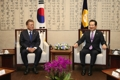 Encuentro del nuevo presidente con el presidente del Parlamento