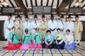 Estudiantes internacionales en una ceremonia tradicional