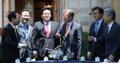 Moon avec les chefs des groupes parlementaires des 5 partis