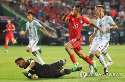-U20월드컵- '이승우·백승호 골' 한국, 2-0 리드(전반종료)