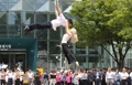 Spectacle de cirque dans le centre de Séoul