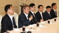 Moon with ex-President Park's Cabinet members