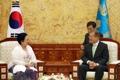 Moon et l'ex-présidente indonésienne