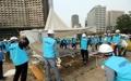 ソウル市庁前のテントを強制撤去