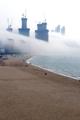 Niebla en la playa de Haeundae