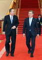 El presidente Moon recibe al ex secretario general de la ONU