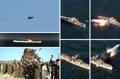 新型の地対艦巡航ミサイル実験