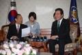 韓国首相 二階氏と談笑