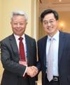 Avec le président de la BAII