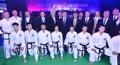 Moon with N. Korean taekwondo team