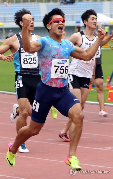 김국영, 코리아오픈 남자 100m 예선 10초22로 예열