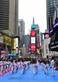 Taekwondo demonstration at Times Square