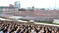 Grand rassemblement à Pyongyang