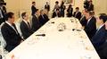 Avec des anciens ambassadeurs aux Etats-Unis