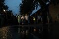 La calle de Cheong Wa Dae de noche