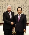 Avec le vice-président parlementaire hongrois