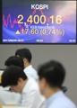 総合株価指数 初の2400突破