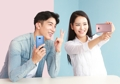 El Galaxy S8 Plus en rosa y el Galaxy S8 en azul