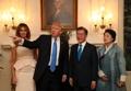 韓米の大統領夫妻 ホワイトハウスでの一枚