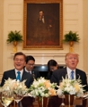 韓米首脳のツーショット
