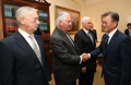Moon avec des secrétaires américains