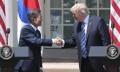 Conferencia de prensa conjunta entre Moon y Trump