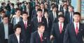 Départ des taekwondoïstes nord-coréens