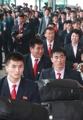 Los taekwondistas norcoreanos regresan a su hogar