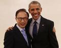 Encuentro del expresidente Lee y Obama en Seúl