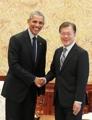 Encuentro de Moon y Obama en Seúl