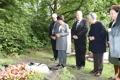 La primera dama visita la tumba de un compositor