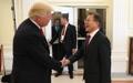 Moon se reúne con Trump en Hamburgo