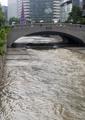 El arroyo Cheonggye desbordado