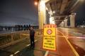 集中豪雨で漢江の水位上昇