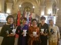 Avec les mascottes des JO de PyeongChang