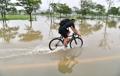 豪雨で漢江沿い冠水