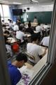 Preparación del examen de aptitud académica en un instituto de secundaria