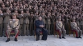 Kim Jong-un avec les participants du tir de Hwasong-14