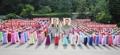 Des Nord-Coréennes célèbrent le succès du tir de Hwasong-14