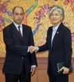 La canciller con el relator especial de la ONU