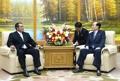 N.K. ceremonial head meets Cuban news agency chief