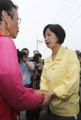 Ruling party chief tours flood-hit area