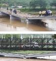폭우로 끊어진 청주 전하울교 군용 교량 개통