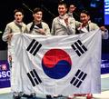 サーブル団体で韓国が初優勝