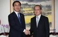 新統一部長官と長嶺大使が会談