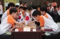 子ども囲碁大会で韓日対決